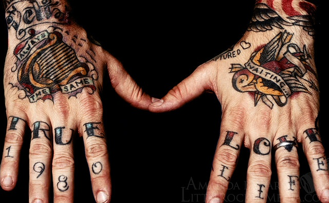 Dallas Green's hands by Little Rocker Media, via Flickr