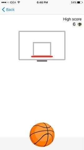 Play Basketball Game in Facebook Messenger