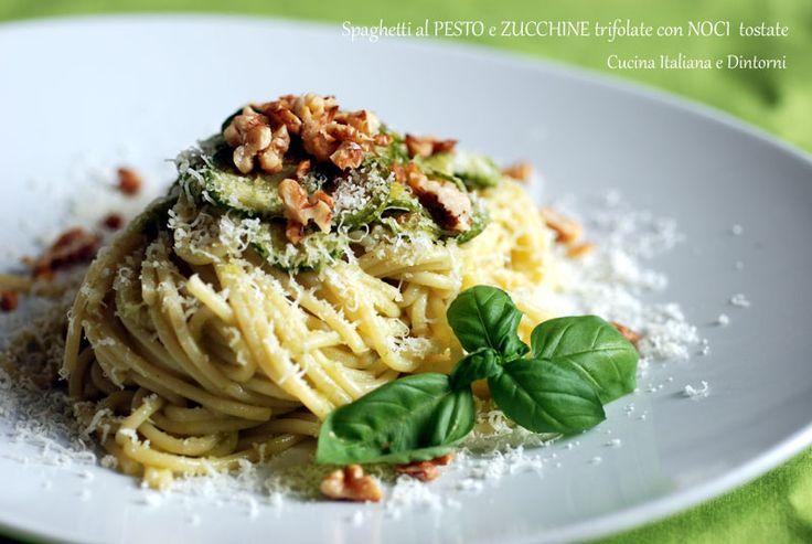 Spaghetti con ZUCCHINE TRIFOLATE e NOCI TOSTATE