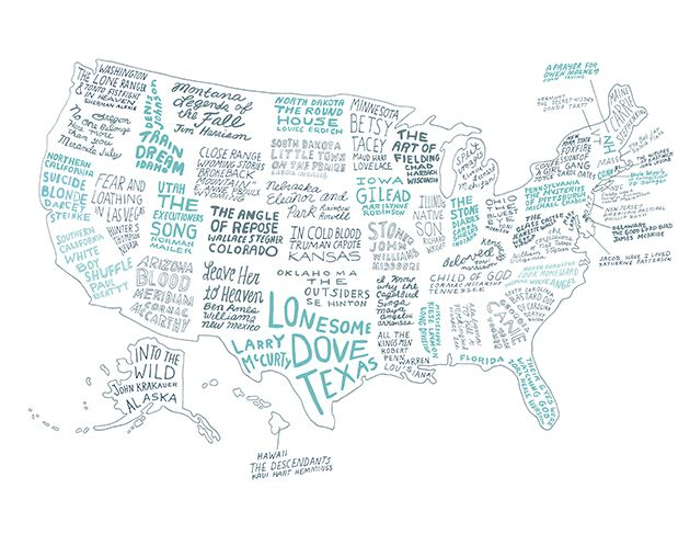 The Literary United States: A Map of the Best Book for Every State... All are literary in voice and spirit; all will let you understand a place in a profound way. And none of them are Gone with the Wind.