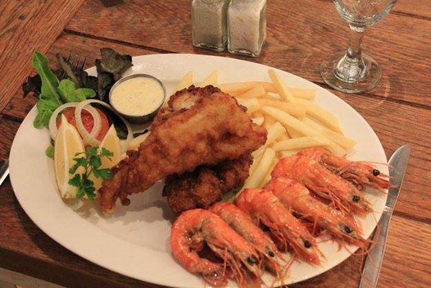 Hake and Prawn Combo anyone? Still one of our most popular dishes......