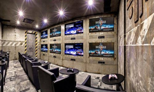 Gaming man cave style man caves pinterest theater Cool gaming room designs