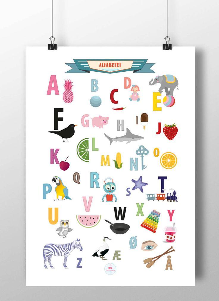 Norske Alfabetet - norskebokstaver by CherryBabyDesign on Etsy https://www.etsy.com/listing/234103140/alfabetet-norskebokstaver