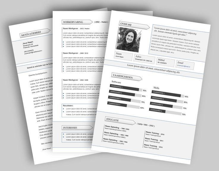 CV template 270. Laat de lay-out van je CV pimpen en eventueel de tekst optimaliseren. www.mooicv.nl