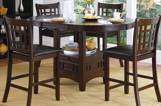 Araiza 5 Piece Counter Height Extendable Dining Set Counter