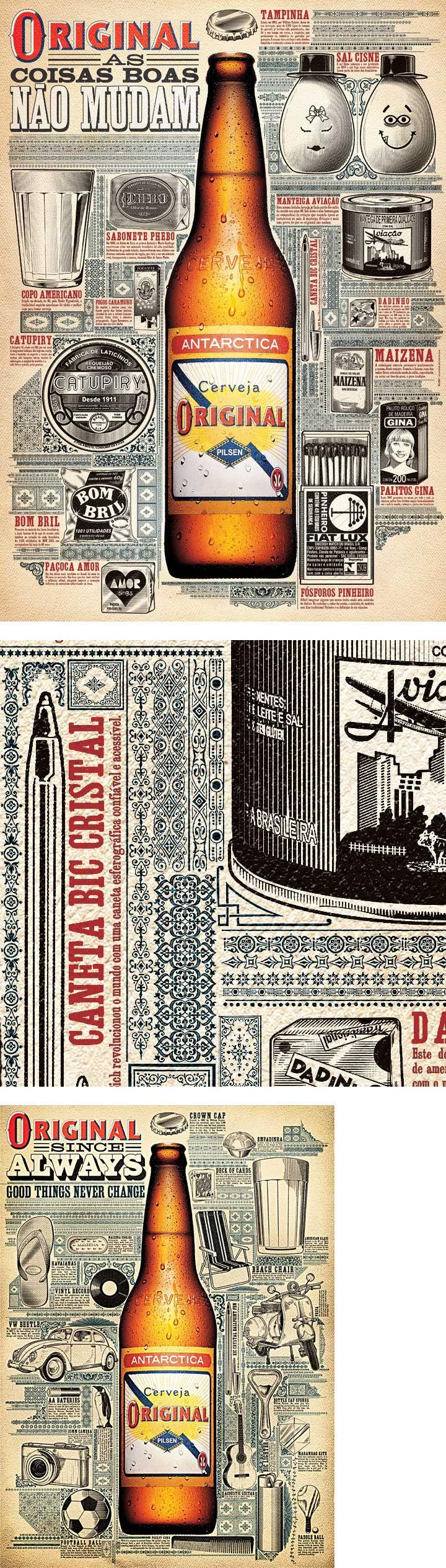 Poster to promote Cerveja Original (Original beer) by Marcos Kotlhar