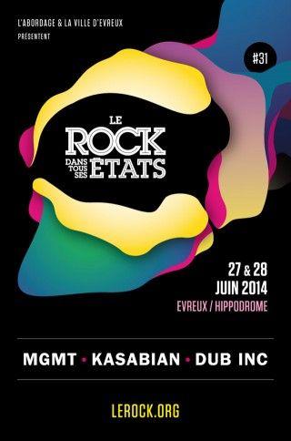 Affiche Le Rock Dans Tous Ses États - édition 2014
