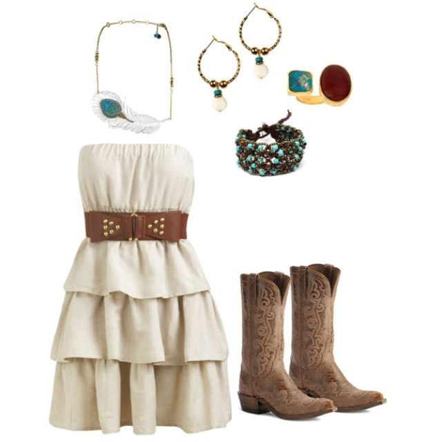 Love the dress. And already got cowgirl boots to go with it.