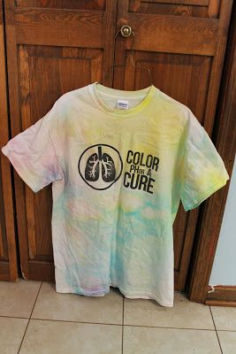 how i tried to preserve my color run shirt