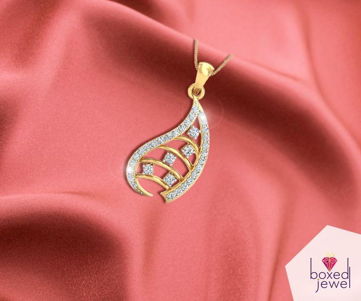 Dazzle around and make a style statement.   #Pendant  #Gold  #Diamond  #Jewelry