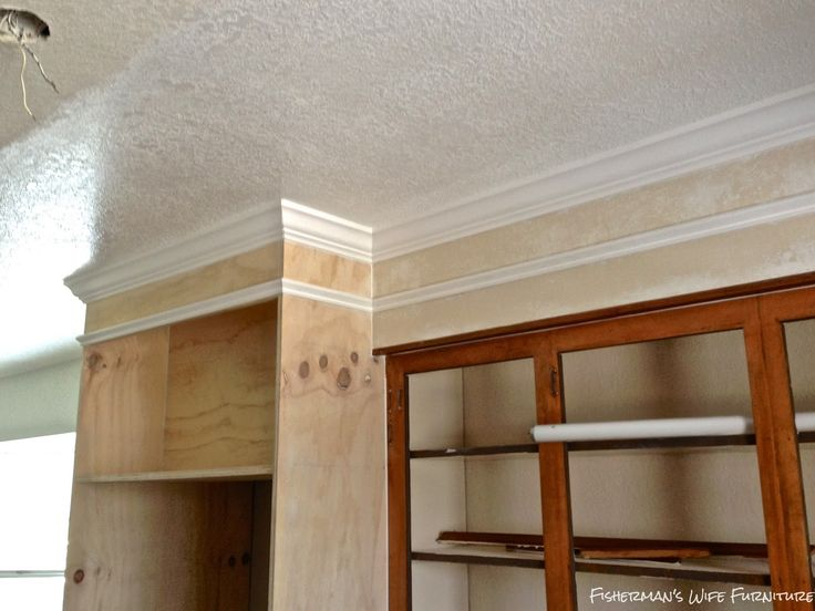Kitchen Cabinets Around Fridge 109 best crown molding over cabinets images on pinterest | crown