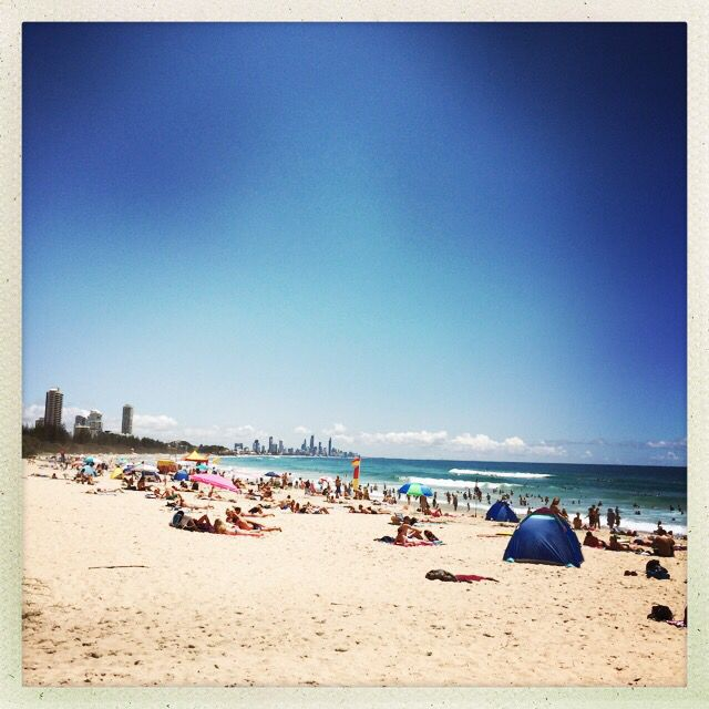 Beach time at Burleigh