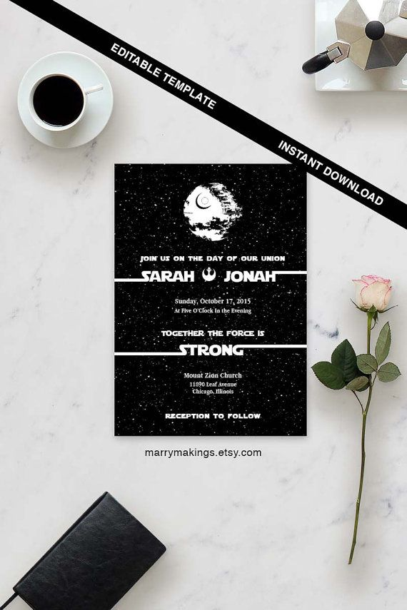 Wedding Template Printable Wedding 16 Editable by MarryMakings