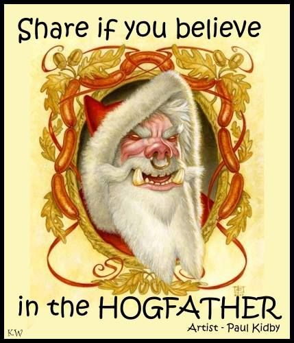 Not a quote.  The Hogfather by Paul Kidby. by Kim White