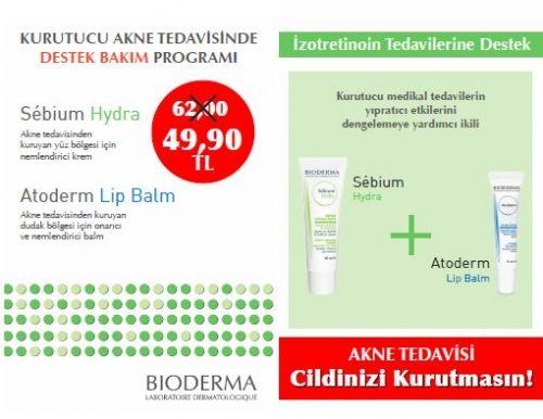 Bioderma İzokit Sebium Hydra + Atoderm Lip Balm Akne Seti