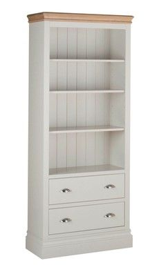 Lundy Pine 6' Bookcase with Drawers