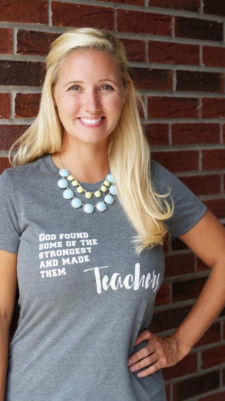 Teacher Shirt - Christian Teacher - Teacher - Teacher Clothing - Back to School - School Shirt - Teacher Supplies - Teacher Gift - Tshirt by TheFarmerTookaWife on Etsy https://www.etsy.com/listing/470519169/teacher-shirt-christian-teacher-teacher