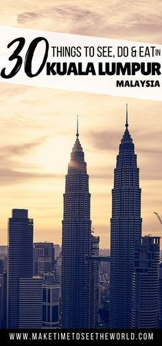 Wondering what to do in KL besides the Batu Caves & Petronas Towers? This guide to where to stay, eat & Top Things to do in Kuala Lumpur has you covered! ***** Malaysia | Kuala Lumpur | KL | THings to do in Kuala Lumpur | Kuala Lumpur Tourist Attractions