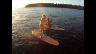 Beautiful 6 minute video Stand Up Paddle Boarding off Balmoral Beach with a pod of dolphins - Sydney Harbour.