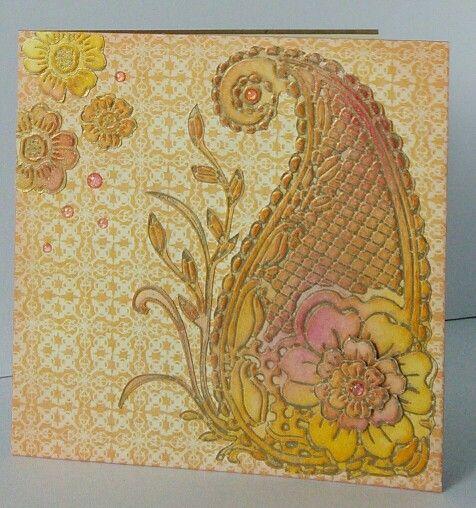 Sheena Douglas embossing folder Card