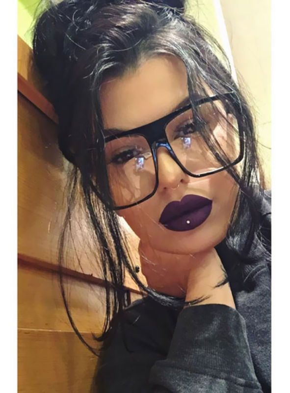 abc22401d12 Oversized Clear Lens Eyeglasses Men Women Fashion Retro Black Square ...