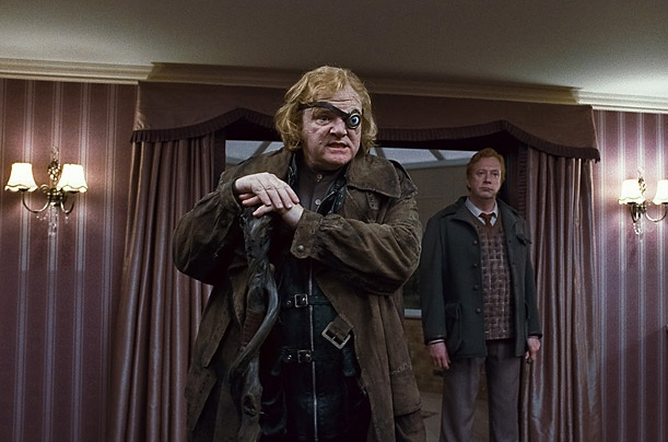 Brendan Gleeson as Alastor 'Mad-Eye' Moody, 4, 5, 7   With a glass orb that wanders erratically and piercingly, Mad-Eye joined Hogwarts in Goblet of Fire — one of the retinue of eccentric professors who are not what they seem. Turns out Mad-Eye is a charter member of the anti-Voldemort Order of the Phoenix, founded many years ago by Dumbledore, and including Hagrid, Lupin, Snape (yes, Snape) and Harry's parents James and Lily Potter. Whether playing heroic or villainous types, Gleeson, 55…