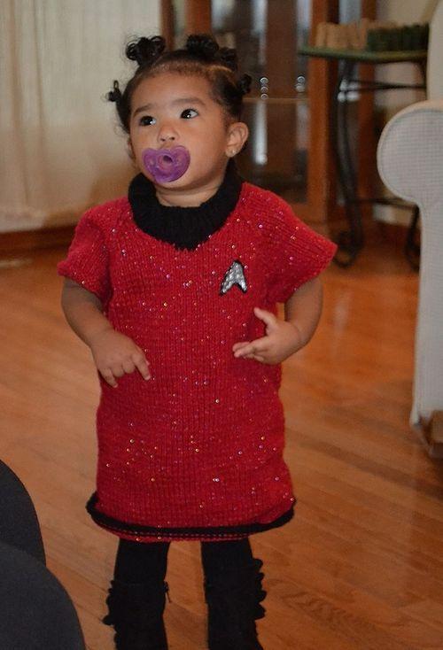 knitting for the nicu kids halloween costume diy - Uhura Halloween Costume