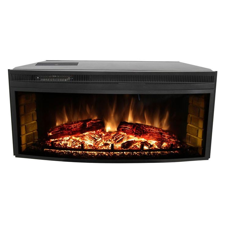 Muskoka 43 In Curved Electric Fireplace Insert Mfb42wsc The Home Depot Living Room