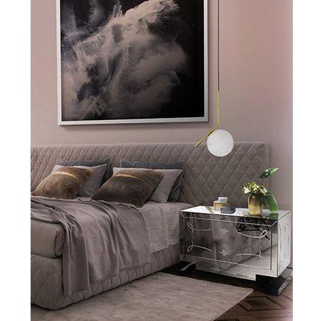 Metropolitan Nightstand by Boca do Lobo influenced by chic urbanattitude adds romance to any master bedroom | http://masterbedroomideas.eu
