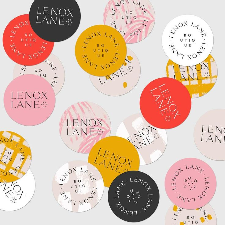 Forever obsessed with these brand elements and color palette  — Sticker design for @shoplenoxlane #logo #branding #graphicdesign #stickerdesign