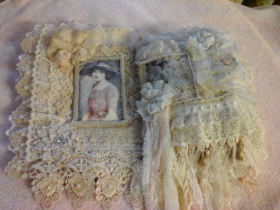 Vintage dames stof dagboek van AuntNinysCreations op Etsy