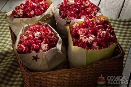 Receita de Pipoca doce vermelha em receitas de doces e sobremesas, veja essa e outras receitas aqui!
