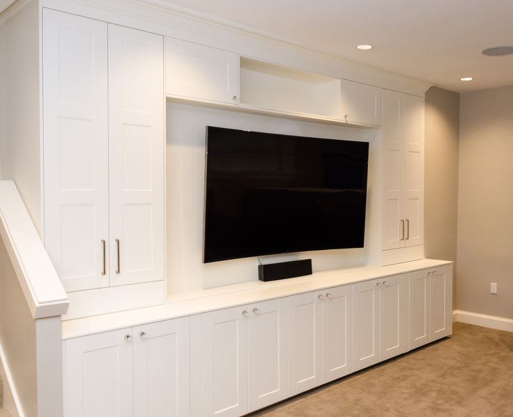 High Quality Custom Built Ins For Media Center Using IKEA Cabinets