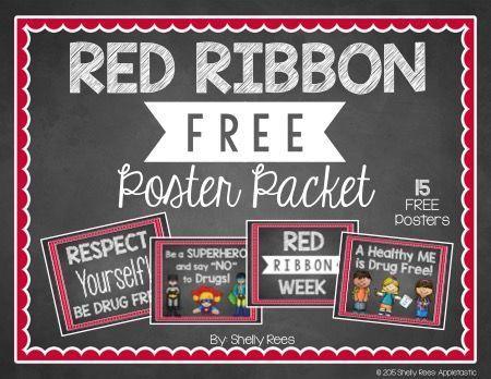 Red Ribbon Week FREE Poster Set