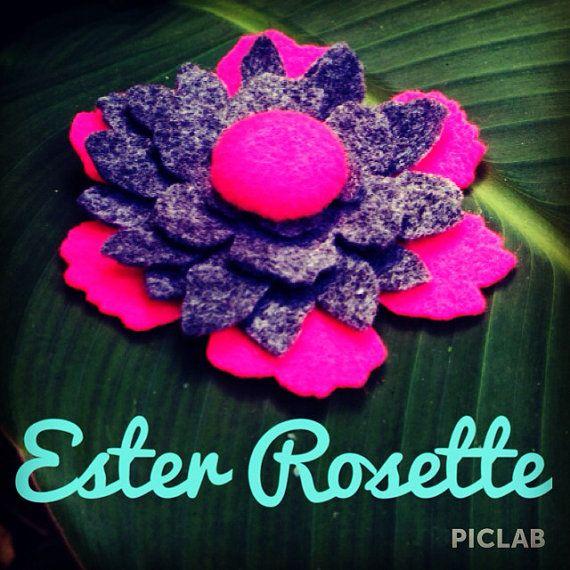 Ester Rosette Hair Clip by ShadandBaz on Etsy