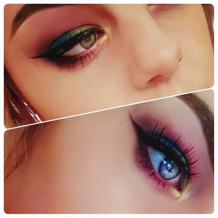 Indoor light vs Natural light ☀️ ☀️ ☀️ @urbandecaycosmetics Full Spectrum Palette shades - Sketch, Gossip, Blindsided, Metamorphosis, Mean & Goldmine ☀️ ☀️ ☀️ #motd #muotd #mua #makeupartist #makeupartistry #makeup #makeupoftheday #makeupblog #urbandecay #fullspectrum #fullspectrumpalette #eyeshadow #brighteyeshadow #mac #maccosmetics #nyx #nyxcosmetics #anastasiabeverlyhills #dipbrowpomade #eylure #eylurelashes #falseeyelashes #wingedliner #eyeliner #highlight  #l4l…