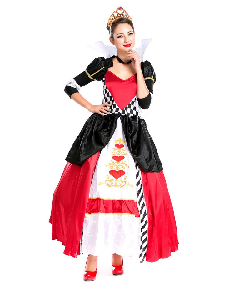 >> Click to Buy << MOONIGHT Halloween Costumes Adult Womens Poker Red Queen of Hearts Costume Dress Carnival Party Poker Queen Costumes for Women #Affiliate