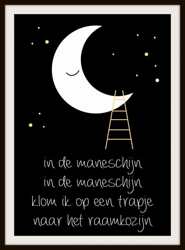 """Poster """"Maneschijn"""" - Kinderkamerdeco"""
