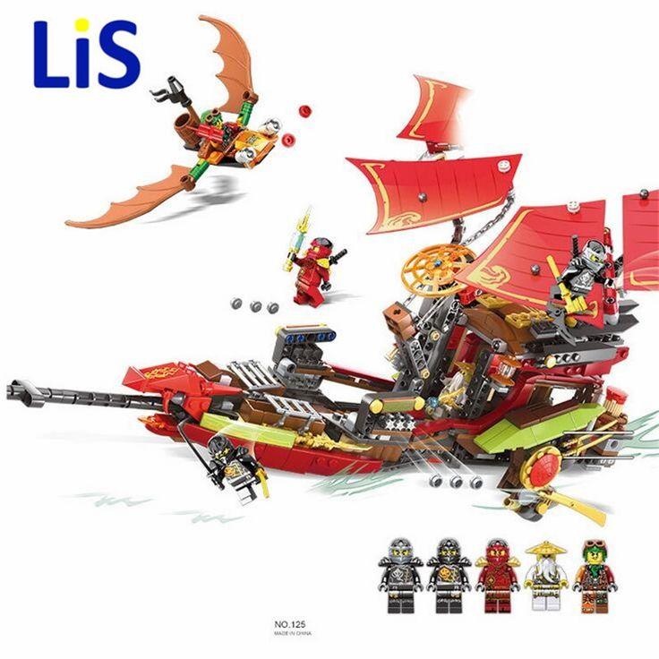34.99$  Watch now - Lis Bozhi 125 Block 879Pcs Ninja Building Blocks Final Fight of Destiny's Bounty Blocks Kids Bricks Toys Compatible with 10402  #aliexpress