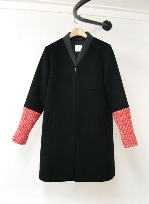 al,thing - Fabric mix coat