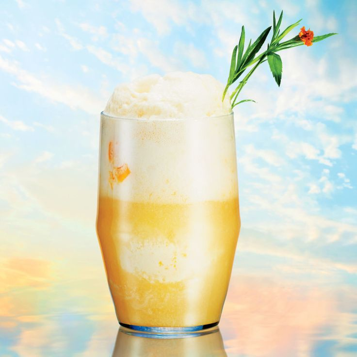 In case of sunshine and happiness, make this colorful ice cream float! Spiking it with some booze makes it even tastier.