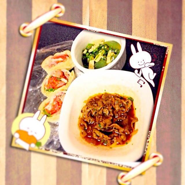 めちゃくちゃ美味しかった!マリネゎ、ウスターソース、オリーブオイル、ケチャップ、醤油( ^ω^ ) - 5件のもぐもぐ - 頂き物ですが牛肉のマリネとオクラと山芋と刺身こんにゃくの麺つゆ和え by shinobufukWLT