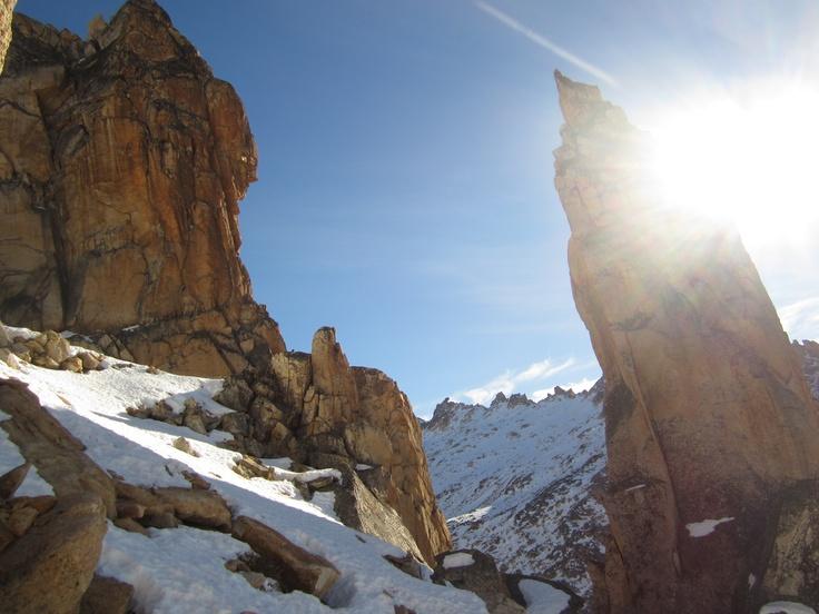Snow and rock, atop Lake Toncek, near Cerro Catedral, Bariloche
