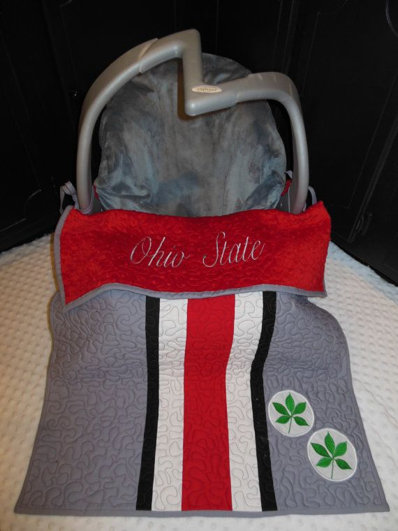 Ohio State Helmet Car Seat Quilt by TWINSANDQUINN on Etsy, $55.00  Why did I find this earlier...how awesome!