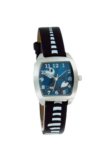 Nightmare Before Christmas Jack Skellington Leather Strap Watch