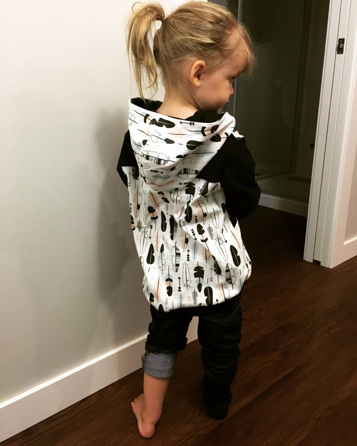 Baby/Toddler Girls Hoodie / tribal feathers / pullover / toddler sweater by…