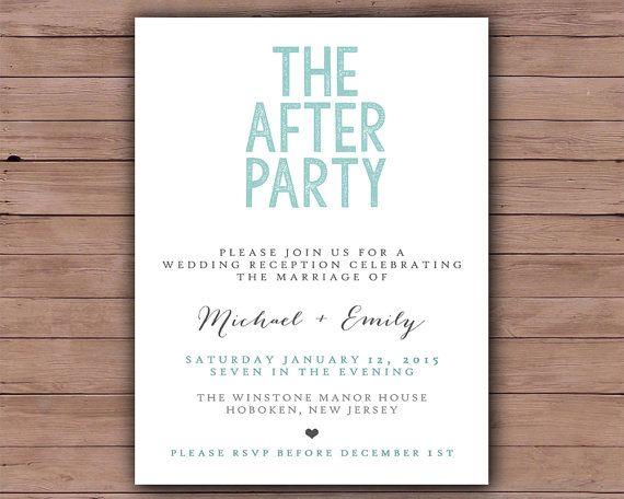 Printable Wedding Invitation  Wedding by DarlingPaperCompany