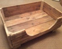 Rustic Dog Bed made from reclaimed pallet wood.