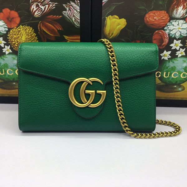 e586d4b2e Gucci 401232-8 GG Marmont leather chain wallet | Gucci Shoulder Bag ...