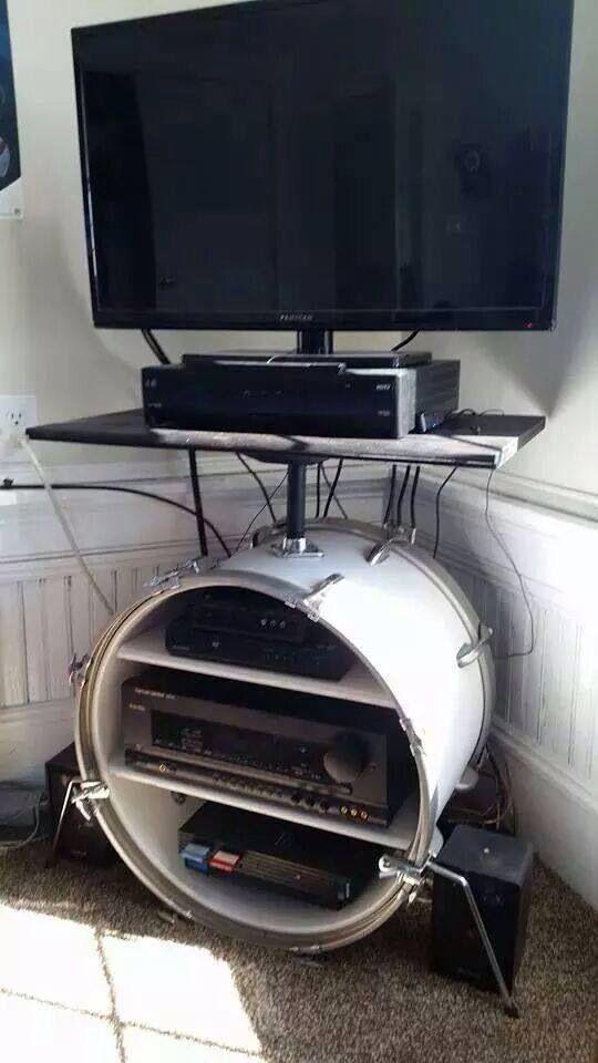Creative way to reuse an old kick drum!